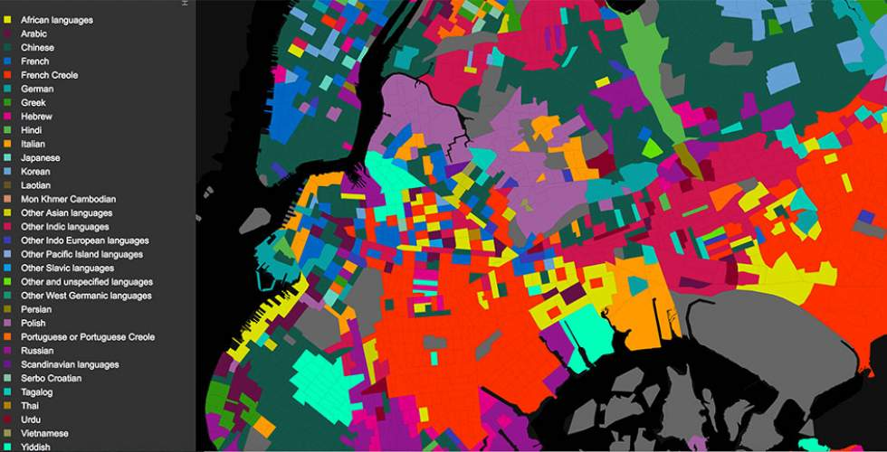 Languages of NYC, by Jill Hubley, http://www.jillhubley.com/project/nyclanguages/